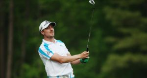 Jonas Blixt of Sweden finished joint-second at Augusta National. Photograph:  Andrew Redington/Getty Images