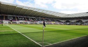 The Liberty stadium in Swansea prior to the Chelsea match. Photograph: Chris Brunskill/Getty Images