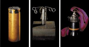 Images of landmines from Dallaporta's series 'Anti-Personnel'
