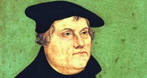 Martin Luther: while the printing press disseminated his religious ideas with a new speed, inexpensive woodcuts of his face made him a Reformation celebrity