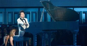 Lang Lang performs during the Grammy Awards in January. Photograph: Kevork Djansezian/Getty Images