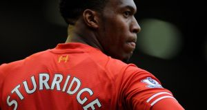 Liverpool's Daniel Sturridge may face Norwich City at Carrow Road on Sunday. Photograph: Peter Powell / EPA