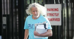 "Mick Wallace: said rents in Dublin were going through the roof because huge numbers of apartments, including ones he developed, ""have been sold en bloc as opposed to individually, for less than half the amount that it would cost to build them today"". Photograph: Alan Betson"