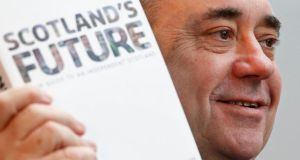 Referendum risk to the North: Scotland's First Minister Alex Salmond. Photograph: Reuters/Russell Cheyne