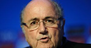 "Fifa  president Sepp Blatter says   punishing  racist behaviour by closing stadiums is ""extremely dubious"" and ""unduly excessive"".  Photograph: Adam Davy/PA Wire"
