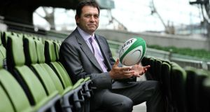 David Nucifora: is unveiled as the IRFU's new Performance Director at the Aviva Stadium yesterday. Photograph: Billy Stickland/Inpho