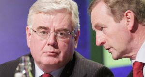 Taoiseach Enda Kenny clashed with Tánaiste Eamon Gilmore on Wednesday. Stephen Collins/Collins Photos