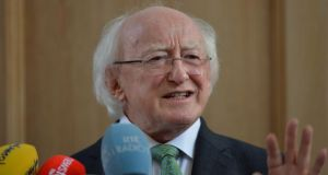 President Michael D Higgins: will be present at ecumenical service to mark death 1,000 years ago.Photograph: Alan Betson