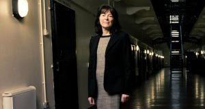 Patricia O'Hagan, managing director of Belfast-based Core Systems, at Crumlin Road jail. Photograph: Richard Trainor