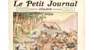 A copy of the French newspaper Le Petit Journal's weekly illustrated supplement, showing an artist's impression of the death of Michael Collins, fetched €100 at Adam's