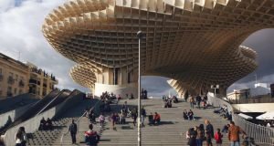 The  Metropol Parasol in Seville houses a museum, bars and restaurants. Photograph:  James Rajotte/The New York Times