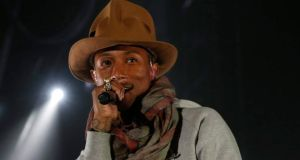 Pharrell Williams performs at the Coachella Valley Music and Arts Festival in Indio, California. Photograph: REUTERS