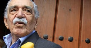 2014:  Gabriel Garcia Marquez outside his home in Mexico City in March on his 87th birthday.