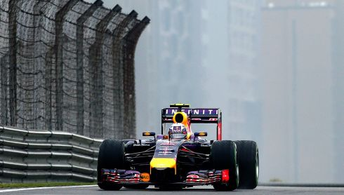 Daniel Ricciardo during the third practice session.  Photograph: Srdjan Suki/EPA