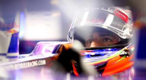A moody shot:  Daniel Ricciardo of Australia and Infiniti Red Bull Racing prepares during qualifying. Photograph: Mark Thompson/Getty Images