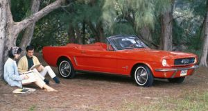 The Ford Mustang's $2,368 price tag in 1964 made it affordable to the horde of baby boomers that were just reaching driving age or heading off to college. Photograph: Reuters/Ford Motor Company