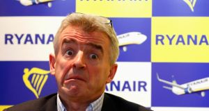 Ryanair chief executive Michael O'Leary said he receives between €60,000 and €80,000 in subsidies for his farm enterprise, and the fact that people like him received subsidies was  wrong. Photograph: Yves Herman/Reuters