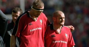 Dejected John Langford (left) and  Peter Clohessy at the end of the 2000 Heineken Cup final against Northampton. Defeat hurt Munster, naturally, but arguably gave them the hunger to keep coming back until they won the competition, in 2006 and 2008.  Photograph: Patrick Bolger/Inpho