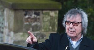 Former Rolling Stones bass player Bill Wyman arrives at the funeral of Peaches Geldof at the church of St Mary Magdalene and St Lawrence in Faversham, Kent. Photograph: EPA/Will Oliver