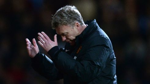 David Moyes has `'left the club', Manchester United said on their Twitter account. Photograph: Anthony Devlin/PA Wire