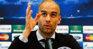 Bayern Munich coach Pep Guardiola has ruled out a move to Manchester United.  Photograph: Michael Dalder / Reuters