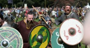 St Anne's Park, Raheny over the  Easter weekend as Dublin City Council staged the largest-ever living history battle re-enactment in Ireland at the Battle of Clontarf Festival. Photograph; Dara Mac Dónaill/The Irish Times