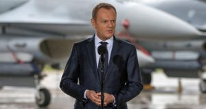 "Polish prime minister Donald Tusk: ""Europe should confront Russia's monopolistic position with a single European body charged with buying its gas."" Photograph: EPA/Grzegorz Michalowski"