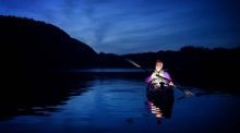 'Paddling through stars' on Lough Hyne
