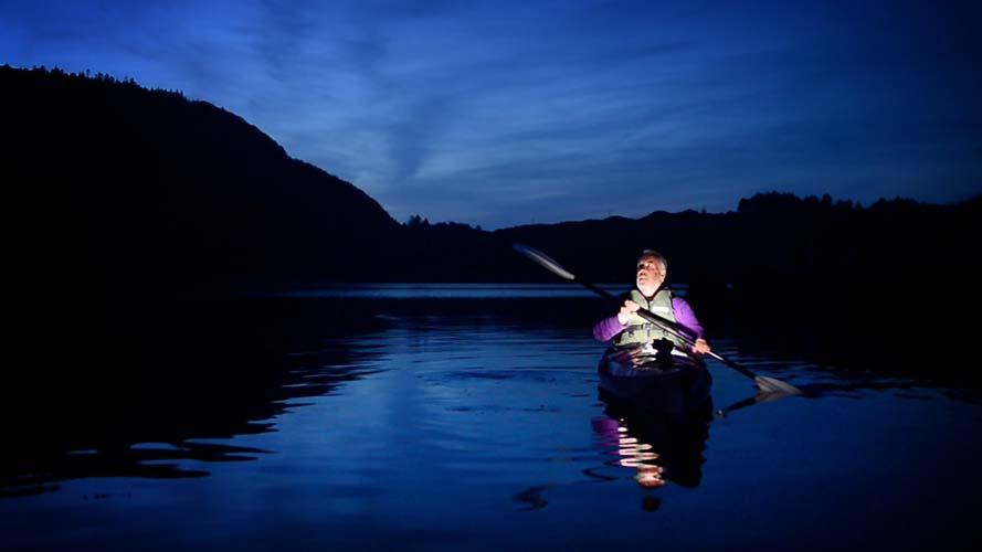 Moonlit Kayaking On Lough Hyne In West Cork