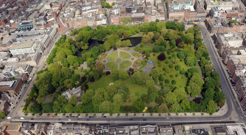 The great St Stephen's Green: it's our version of Central Park.  Photograph: Cpl Colum Lawlor/Air Corps
