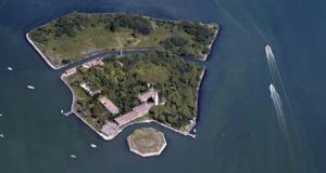Poveglia, the overgrown and deserted 17-acre island off the coast of Italy. Photograph: Getty Images