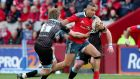Simon Zebo:  Munster need a confident start against Toulon in their Heinkecn Cup semi-final at the Stade Velodrome. Photograph: Dan Sheridan