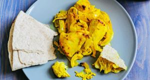 Saffron and  lemon chicken (Joojeh Kabab)