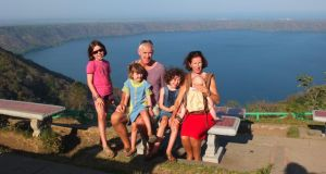 Deirdre Veldon and Paul Cullen and their children Ella, Tana, Rosa and Luca