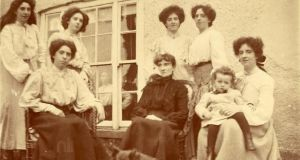 Kathleen Clarke (nee Daly, seated), wife of Easter Rising leader Thomas Clarke, with family members in the 1890s. Photograph: Thomas Clarke Collection/NLI