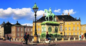 In central  Copenhagen more than 55 per cent of people commute by bicycle.