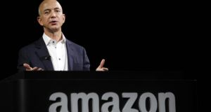 Amazon's chief executive Jeff Bezos.The company's revenue grew 23 per cent to almost $20 million in the first quarter. Photo: Bloomberg
