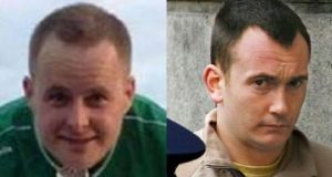 Gardai are searching in Co Cavan for missing Dubliners Eoin O'Connor (32, left) and Anthony Keegan (33).