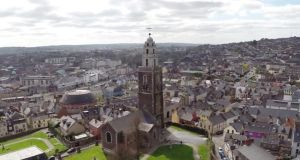 Still image from Raymond Fogarty's drone footage of Cork city