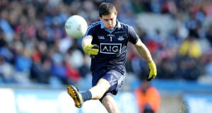Goalkeeper Stephen Cluxton's kick-outs form an important part of Dublin's game plan. Photo: Cathal Noonan/Inpho