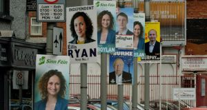 And they're off: posters in Dublin. Photograph: David Sleator