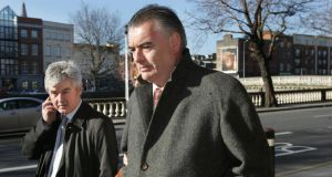 Ian Bailey (right) and his  solicitor Frank Buttimer. Photograph: Matt Kavanagh