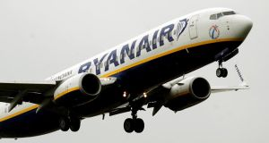Ryanair shares fell 2.08 per cent yesterday, closing at €7.31. Photograph: Rui Vieira/PA Wire