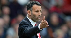 Manchester United's manager Ryan Giggs during the 4-0 win over Norwich City at Old Trafford. Photograph: Nigel Roddis / Reuters