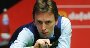 Ken Doherty: In action during his second round match against Alan McManus at the Crucible venue in Sheffield. Photograph: PA