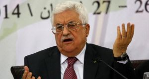 Palestinian president Mahmoud Abbas: comments on Holocaust seen as an attempt to ease tensions sparked by the collapse of peace negotiations. Photograph: Reuters/Mohamad Torokman