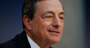 Mario Draghi, president of the European Central Bank (ECB), could make the most radical move of his term when inflation figures are released on Wednesday.  Photograph: Ralph Orlowski/Bloomberg