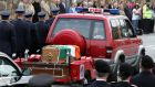 People line the street to pay their respect at the funeral of fire-fighter Mark O'Shaughnessy at Bray, Co Wicklow in 2007. Photograph: Eric Luke/The Irish Times