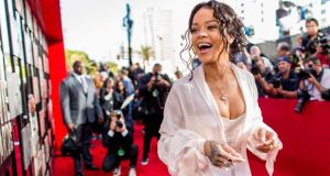 A Dublin-based former security chief for singer Rihanna (above) is taking the pop star to court over an email she sent to him. Photograph: Christopher Polk/Getty Images