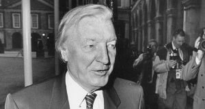 Charles Haughey: the haemophila debate brought down his government in 1989 and marked the end of Fianna Fáil-only administrations.  Photograph: Frank Miller.